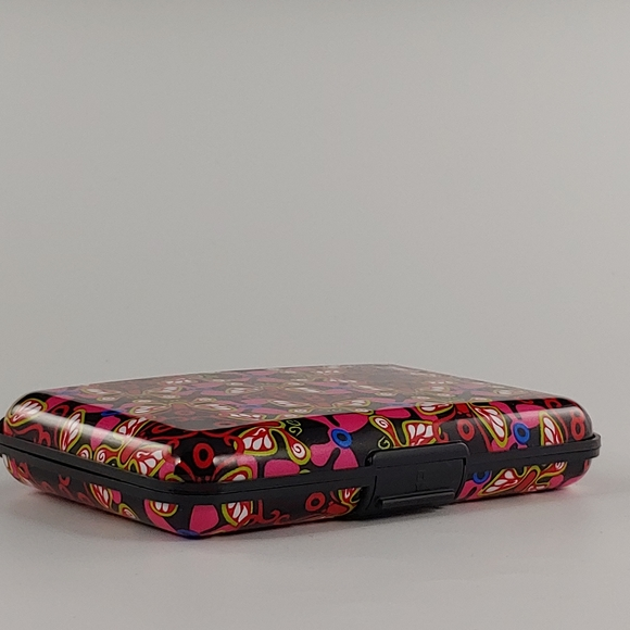 None Handbags - Aluminum Butterfly Wallet, Rfid - Red and black